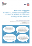 Violences conjugales : garantir la protection des femmes victimes et de leurs enfants tout au long de leur parcours