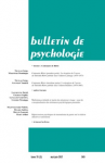 Bulletin de psychologie