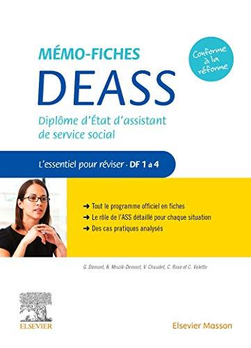 Mémo-Fiches DEASS - Diplôme d'Etat d'assistant de service social - L'essentiel pour réviser - DF 1 à 4